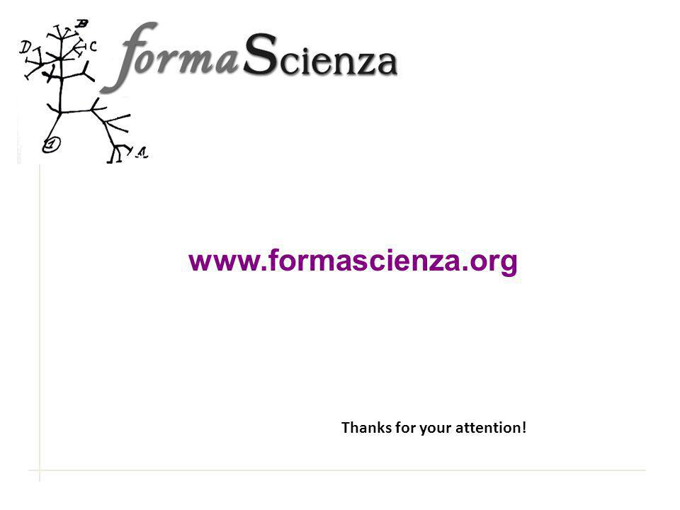 www.formascienza.org Thanks for your attention!