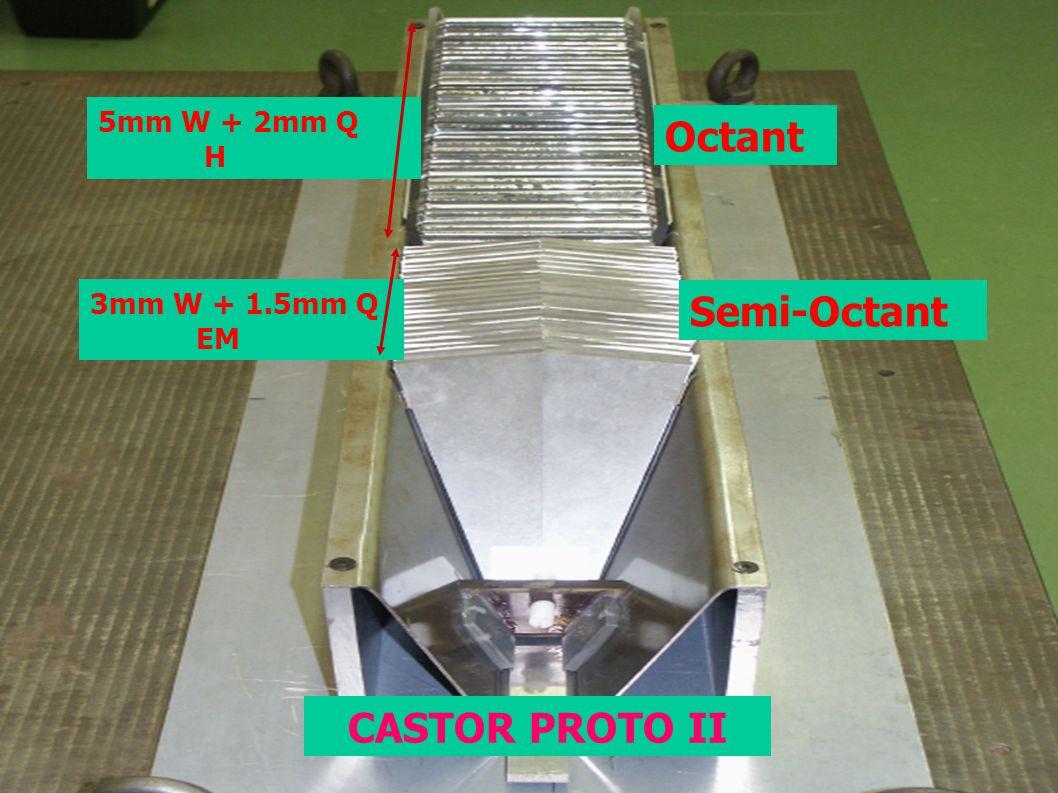 5mm W + 2mm Q H 3mm W + 1.5mm Q EM Octant Semi-Octant CASTOR PROTO II