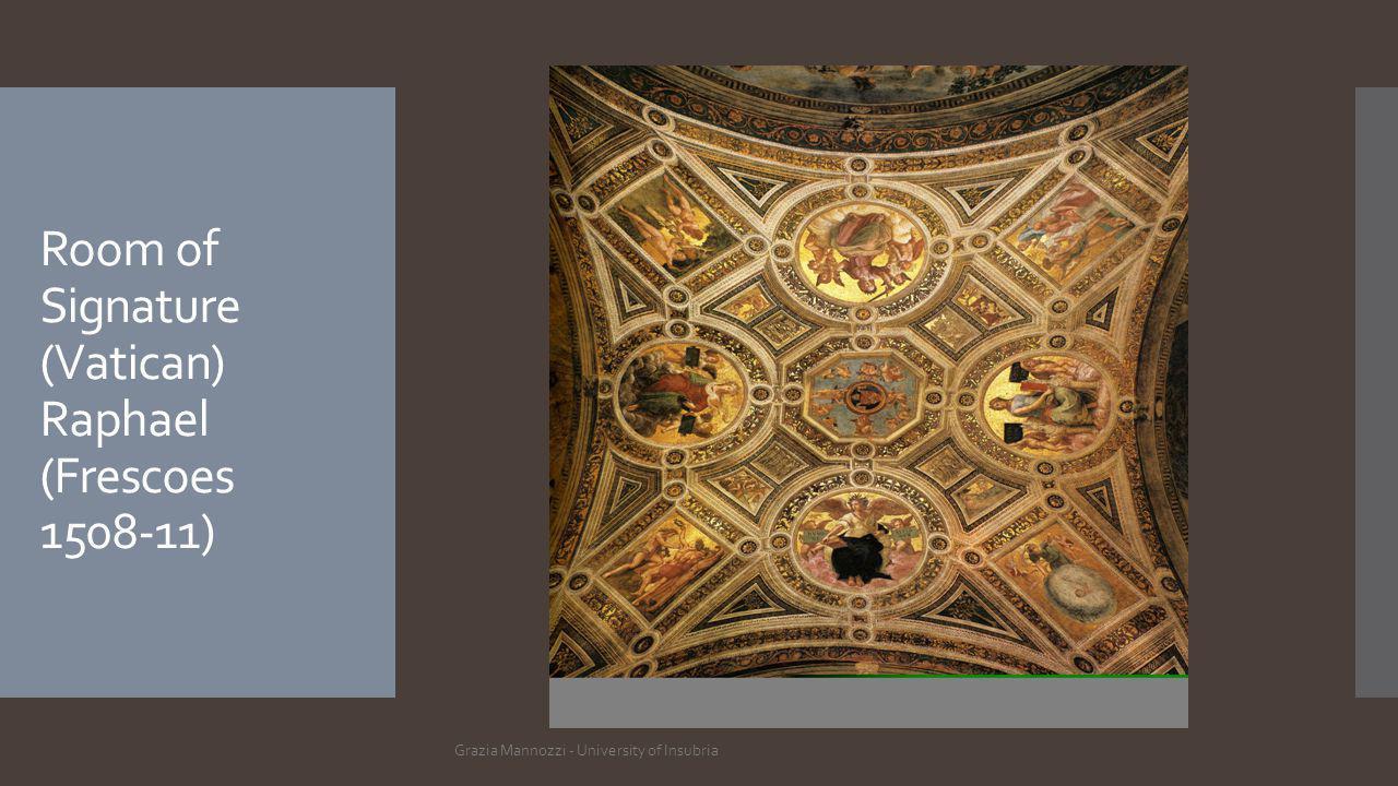 Room of Signature (Vatican) Raphael (Frescoes 1508-11) Grazia Mannozzi - University of Insubria