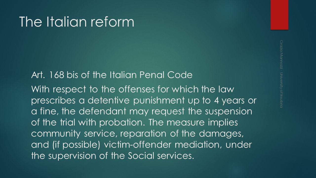 The Italian reform Art.