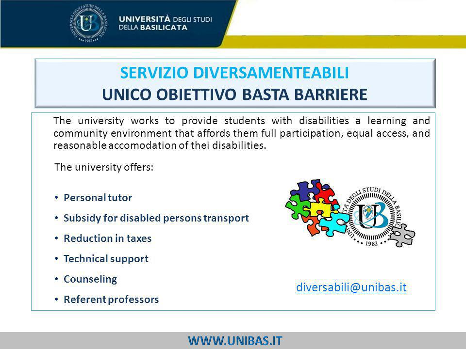 The university works to provide students with disabilities a learning and community environment that affords them full participation, equal access, and reasonable accomodation of thei disabilities.