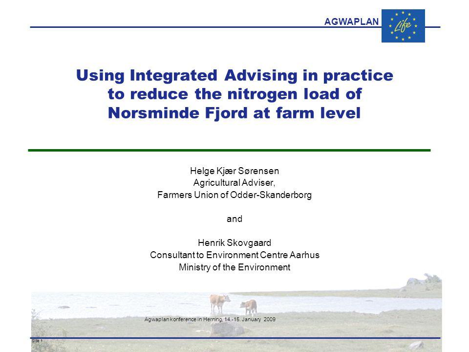 AGWAPLAN Agwaplan konference in Herning, 14.-15.