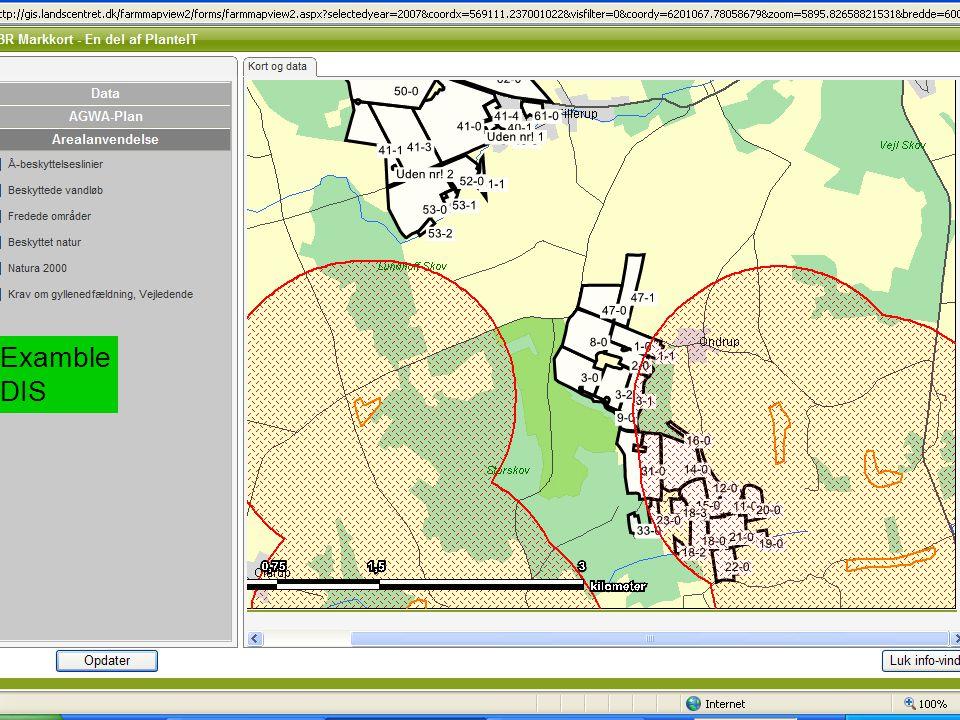 AGWAPLAN Agwaplan konference in Herning, 14.-15. January 2009 Side 9 · · Examble DIS
