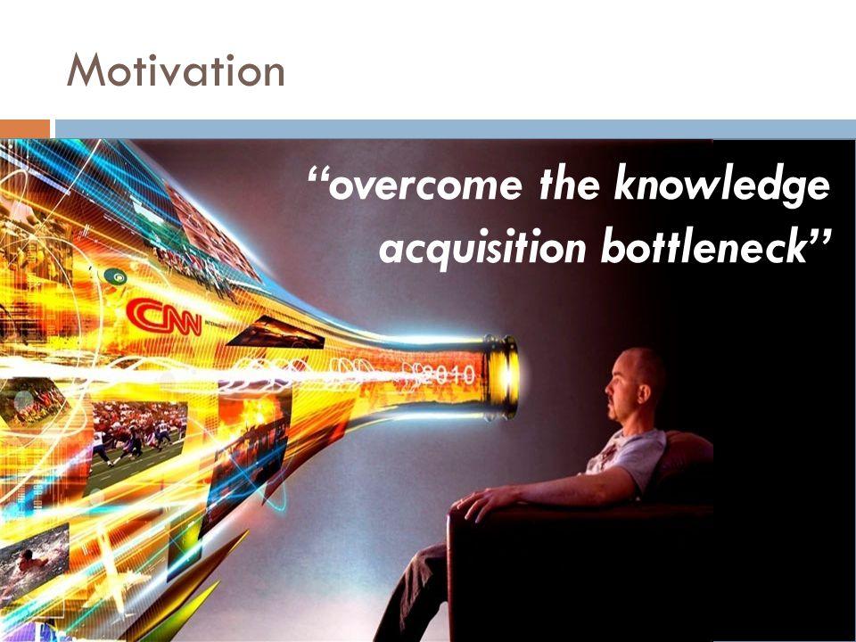 overcome the knowledge acquisition bottleneck Motivation