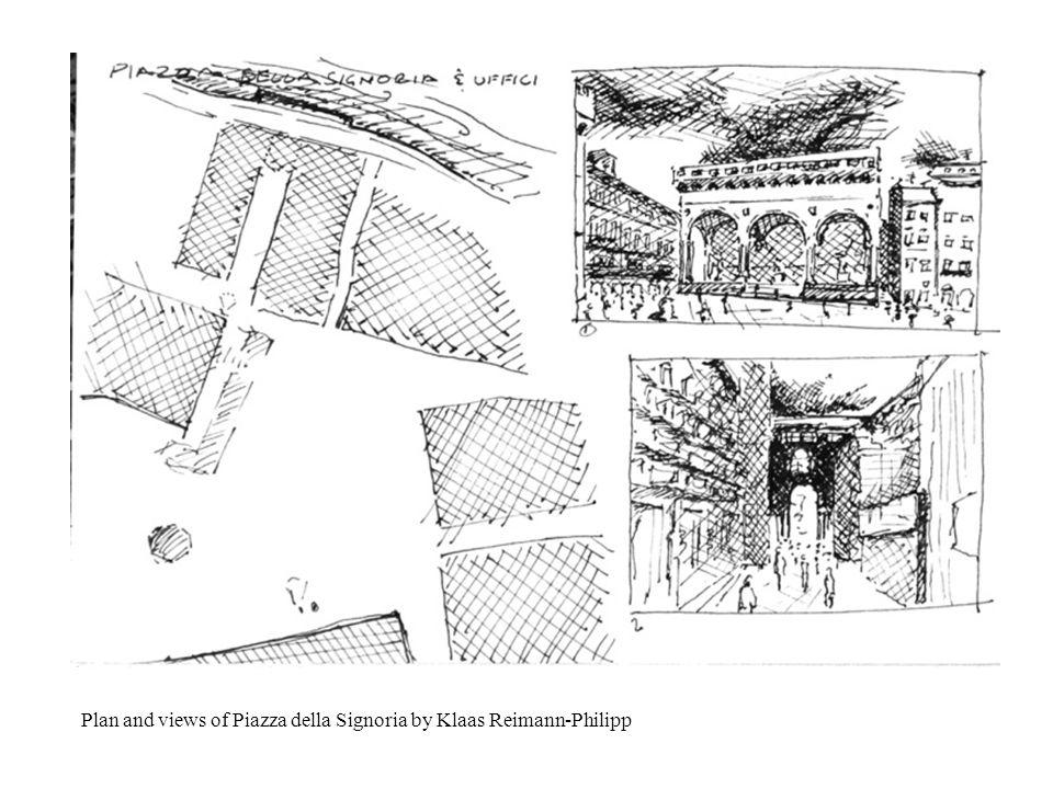 Plan and views of Piazza della Signoria by Klaas Reimann-Philipp