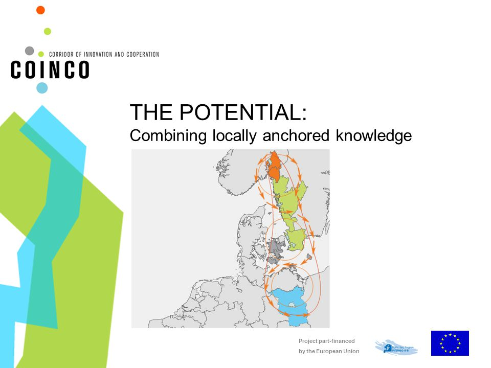Project part-financed by the European Union THE POTENTIAL: Combining locally anchored knowledge