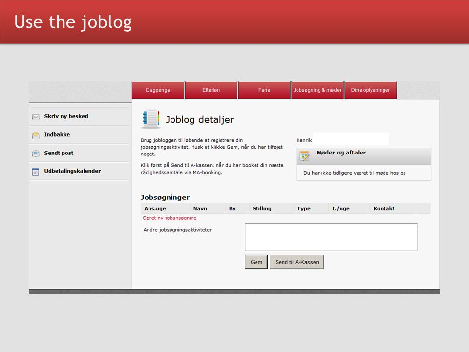 Use the joblog