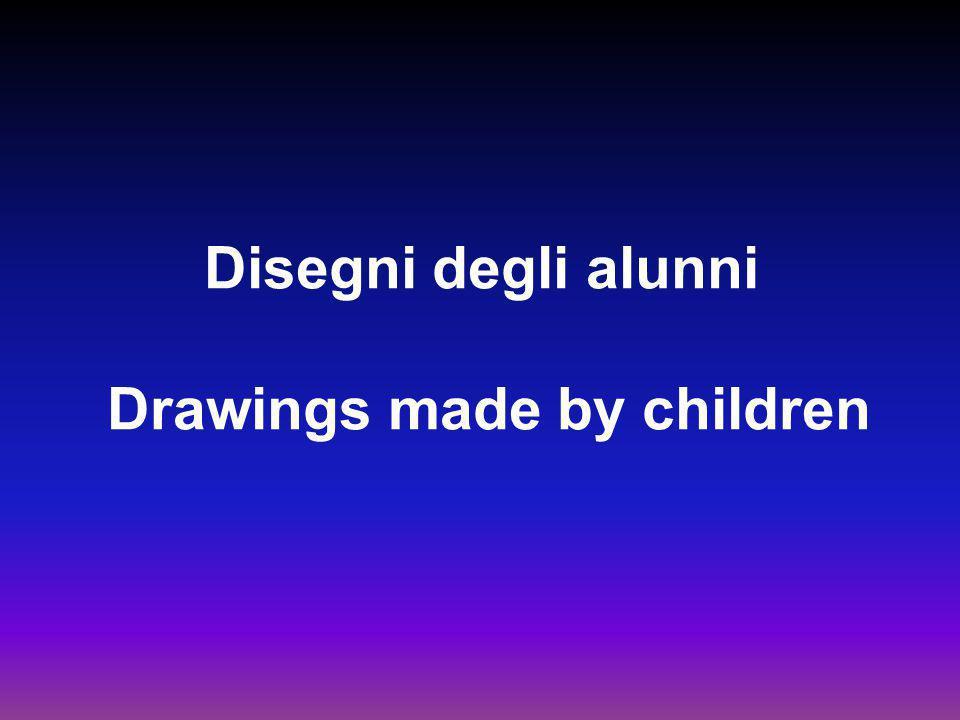 Disegni degli alunni Drawings made by children
