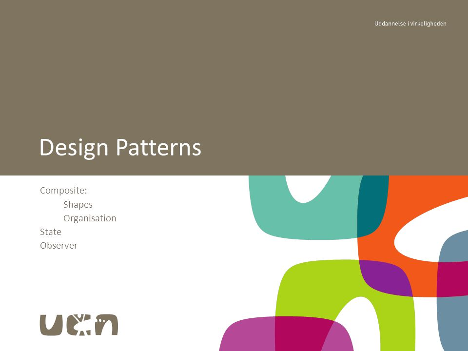 Composite: Shapes Organisation State Observer Design Patterns