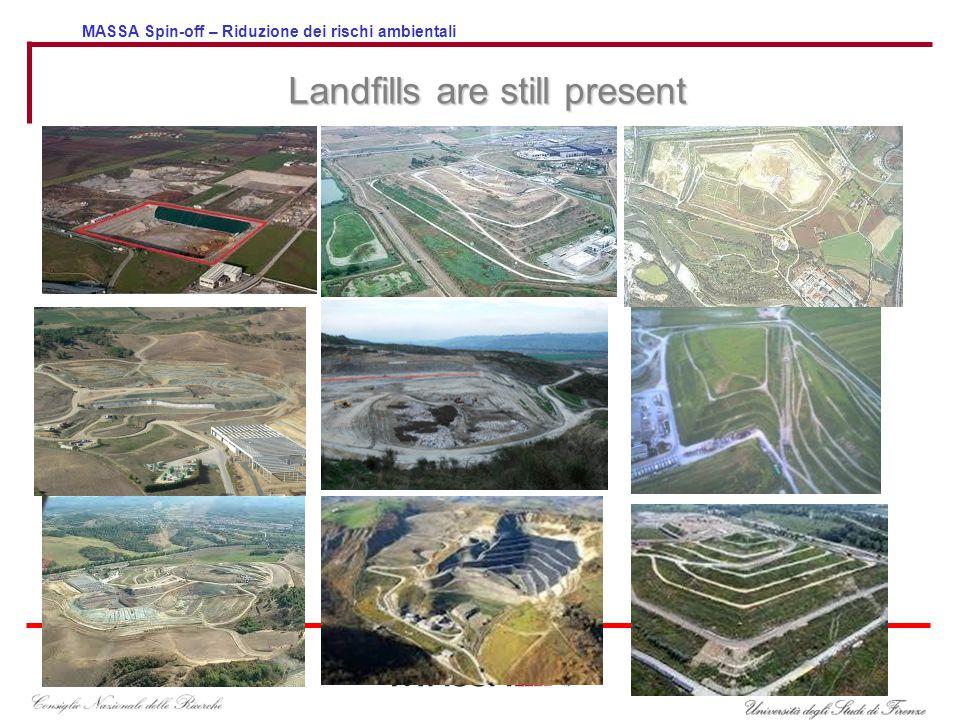 MASSA Spin-off – Riduzione dei rischi ambientali Landfills are still present