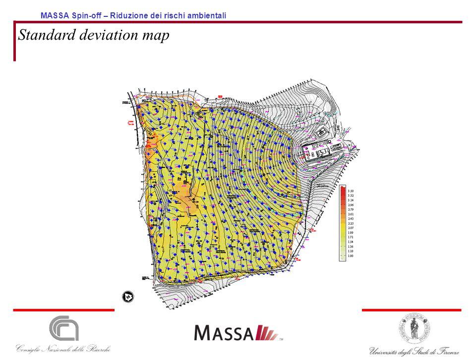 MASSA Spin-off – Riduzione dei rischi ambientali Standard deviation map