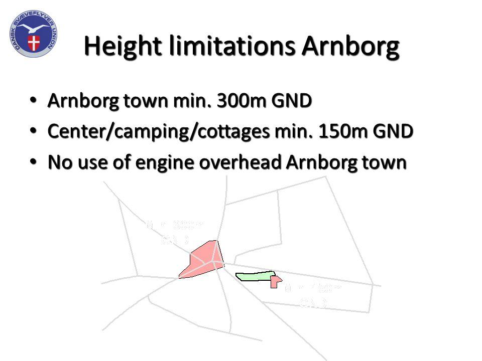 Height limitations Arnborg Arnborg town min.300m GND Arnborg town min.