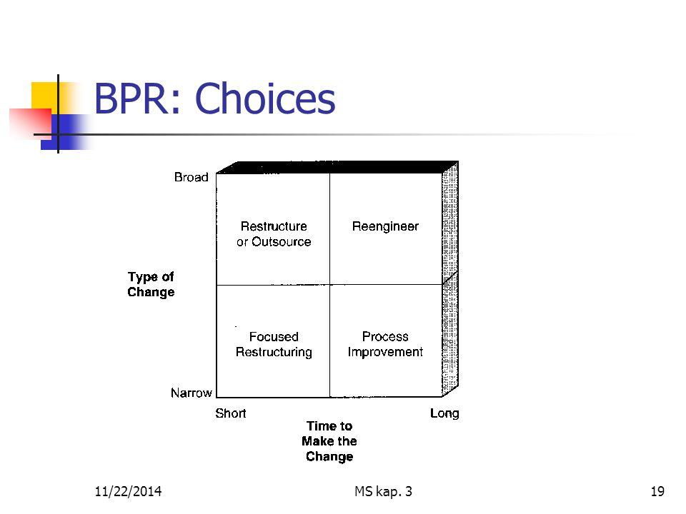 11/22/2014MS kap. 319 BPR: Choices