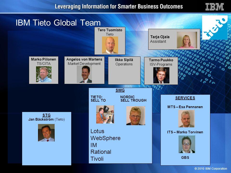© 2010 IBM Corporation 13.15 - 14.00 IBM Technology Uppdate Timo Koskinen