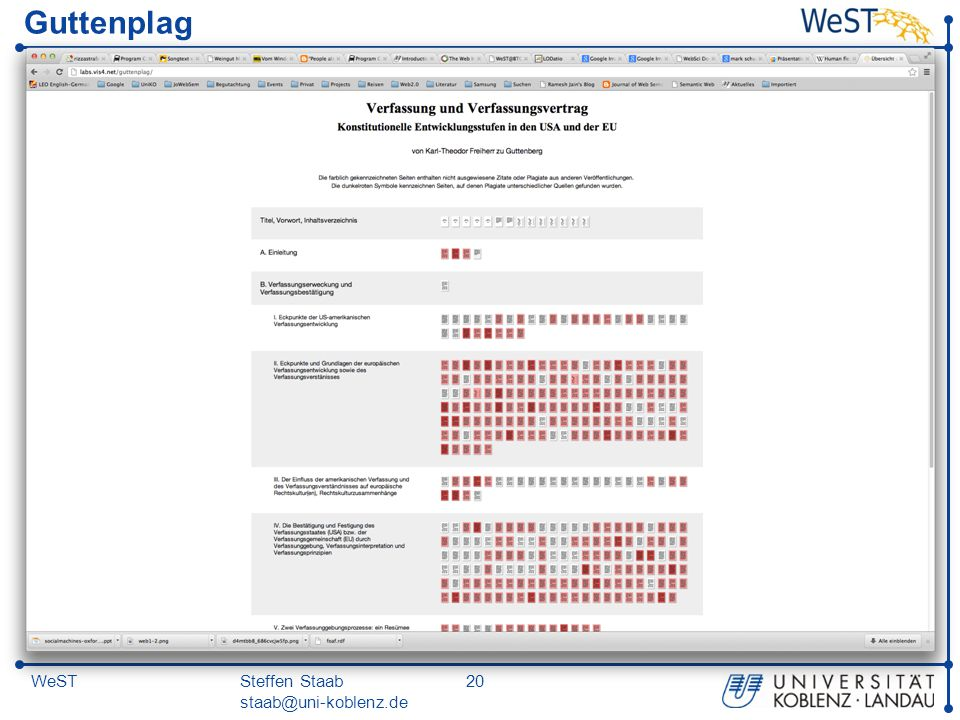 Steffen Staab staab@uni-koblenz.de 20WeST Guttenplag