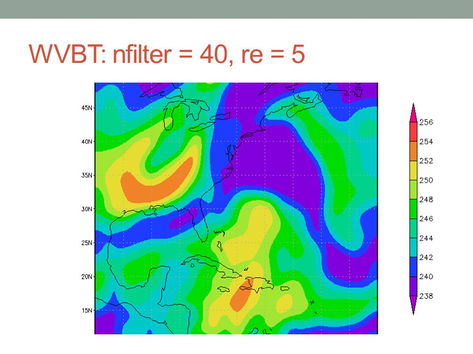 WVBT: nfilter = 40, re = 5