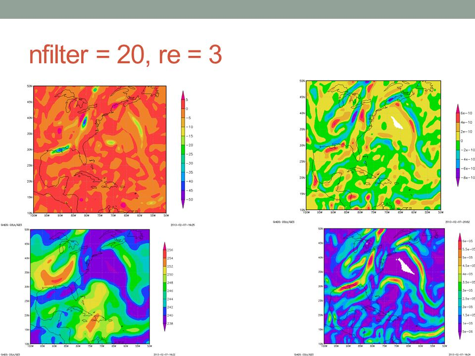 R: nfilter = 20, re = 5