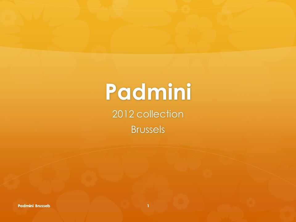 Padmini 2012 collection Brussels Padmini Brussels1