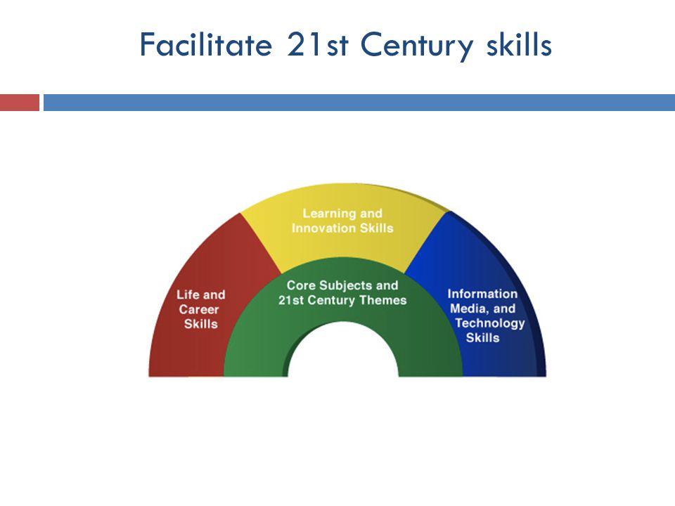 Facilitate 21st Century skills