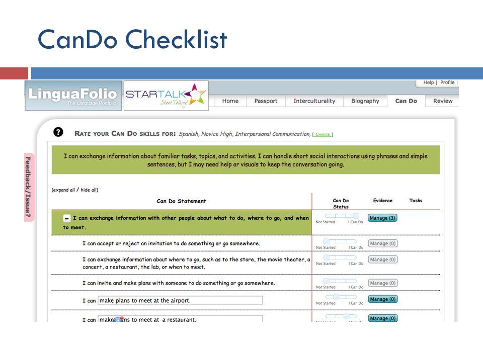 CanDo Checklist
