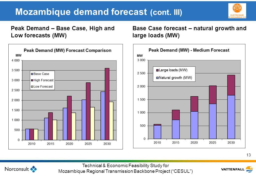© Vattenfall AB Klicka här för att ändra format på underrubrik i bakgrunden 13 Technical & Economic Feasibility Study for Mozambique Regional Transmis
