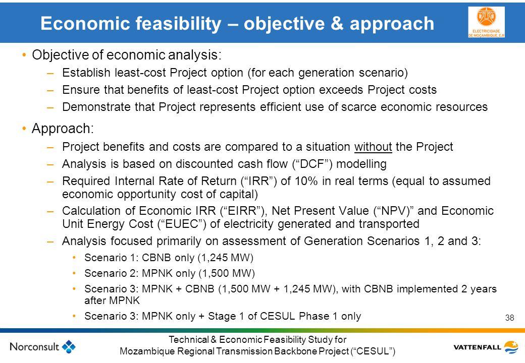 © Vattenfall AB Klicka här för att ändra format på underrubrik i bakgrunden 38 Technical & Economic Feasibility Study for Mozambique Regional Transmis