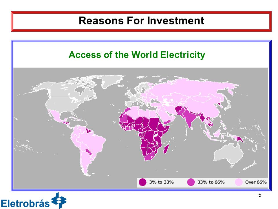 5 fds Reasons For Investment Access of the World Electricity