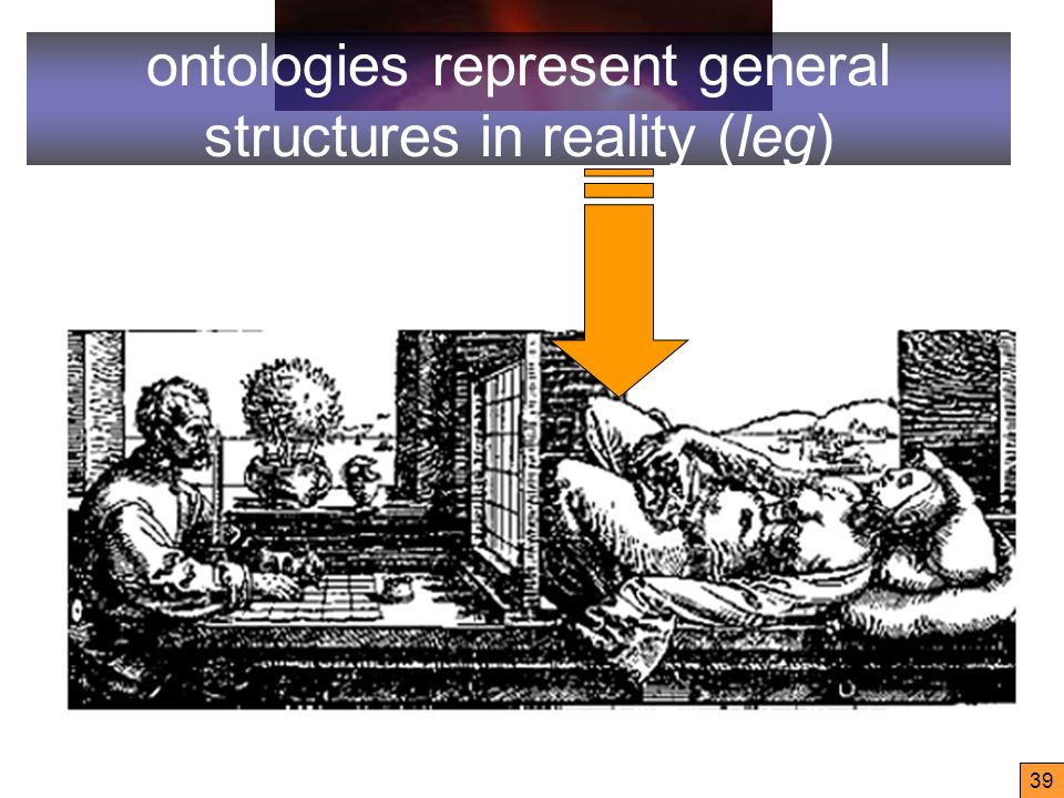 39 ontologies represent general structures in reality (leg)