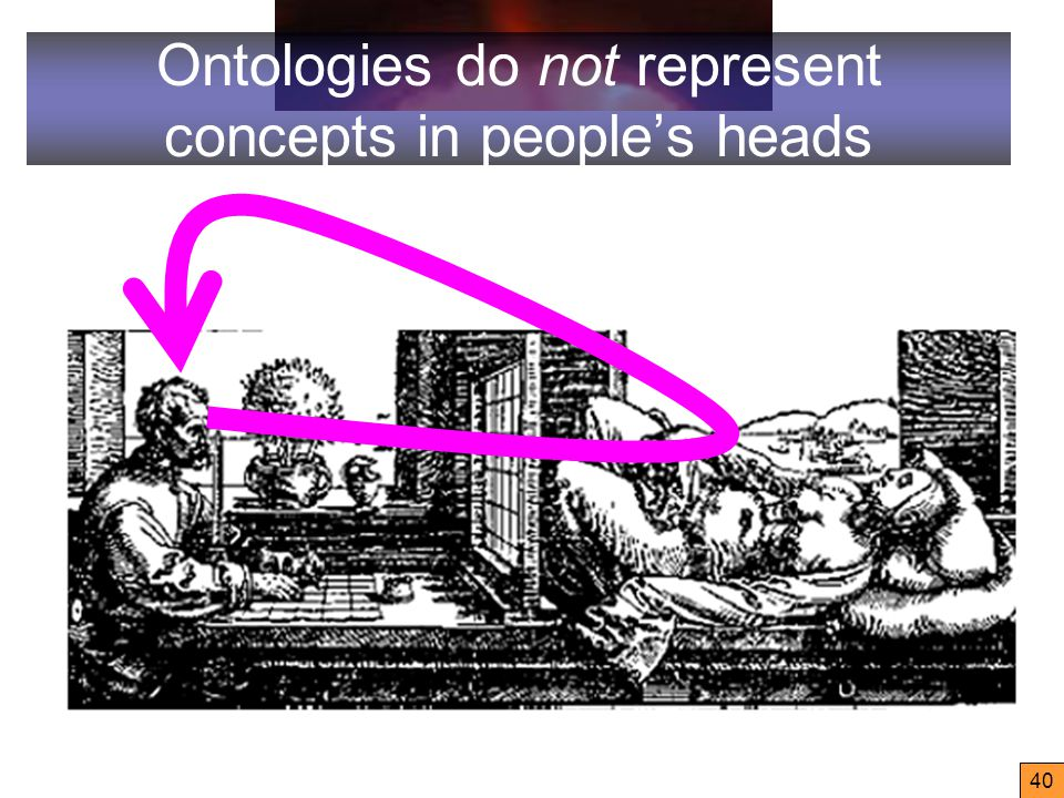 40 Ontologies do not represent concepts in people's heads