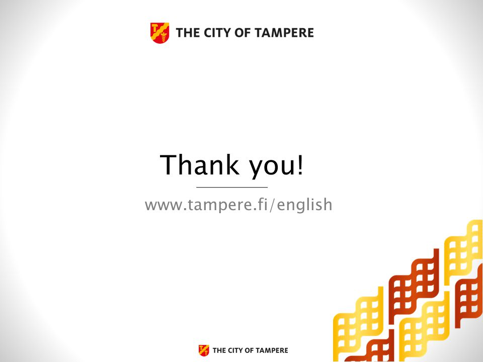 www.tampere.fi/english Thank you!