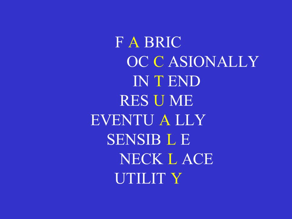 F A BRIC OC C ASIONALLY IN T END RES U ME EVENTU A LLY SENSIB L E NECK L ACE UTILIT Y