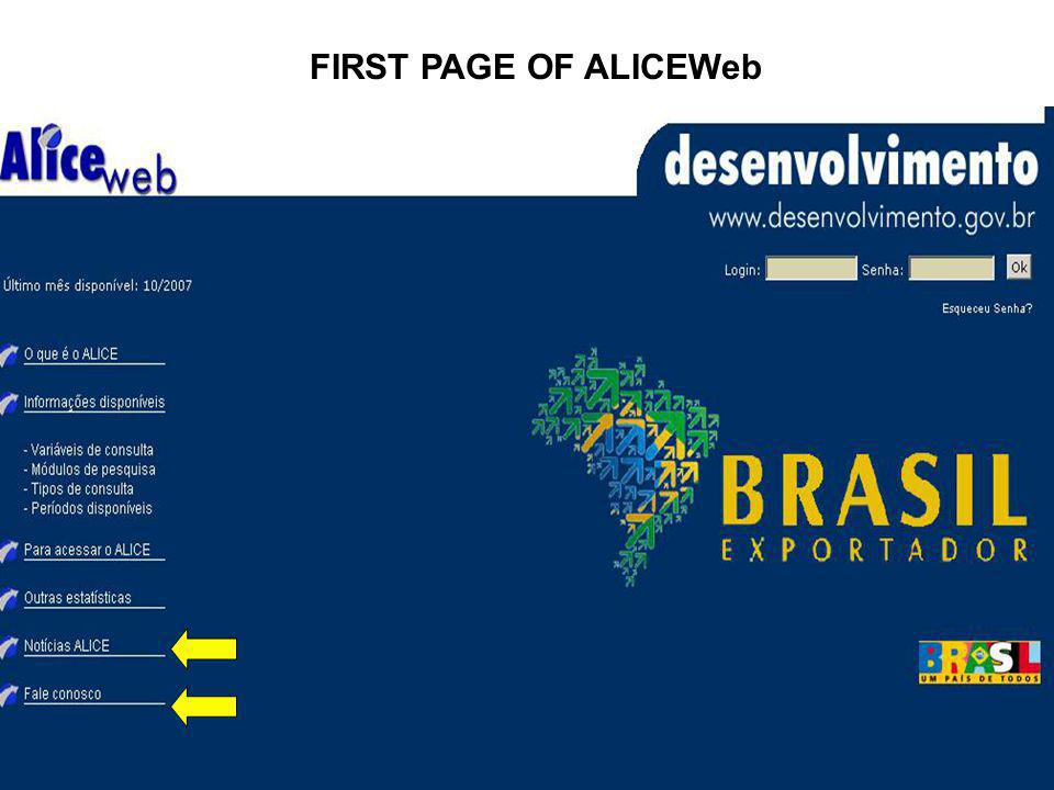 FIRST PAGE OF ALICEWeb
