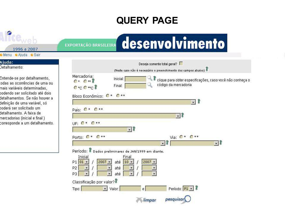 QUERY PAGE