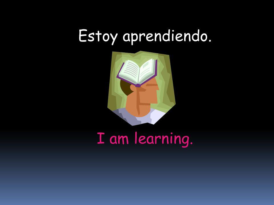I am learning. Estoy aprendiendo.