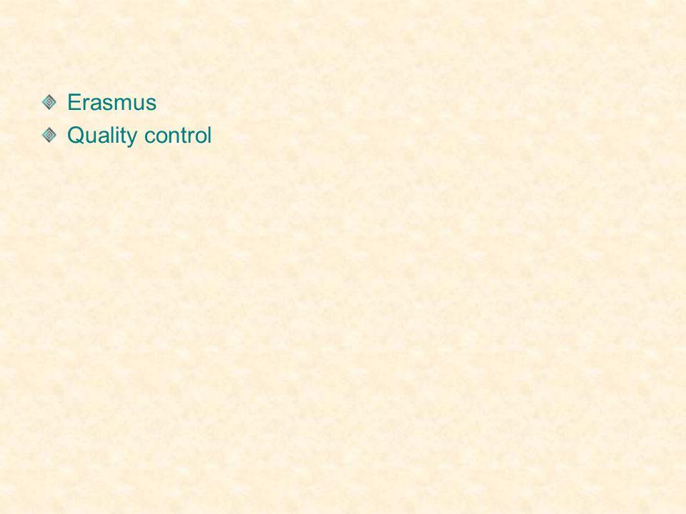 Erasmus Quality control