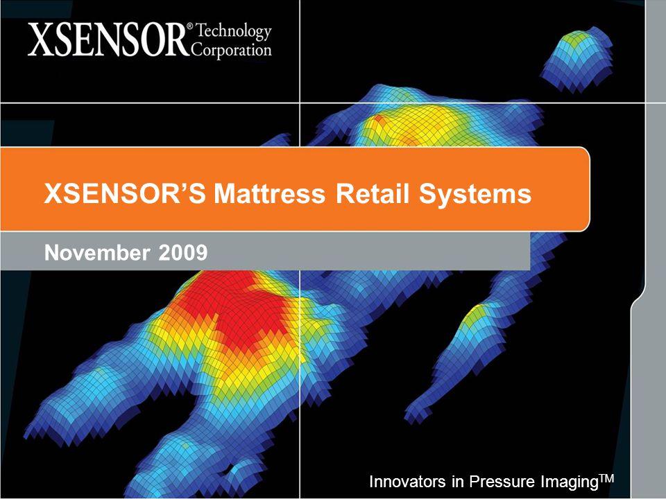 Innovators in Pressure Imaging TM XSENSOR'S Mattress Retail Systems November 2009