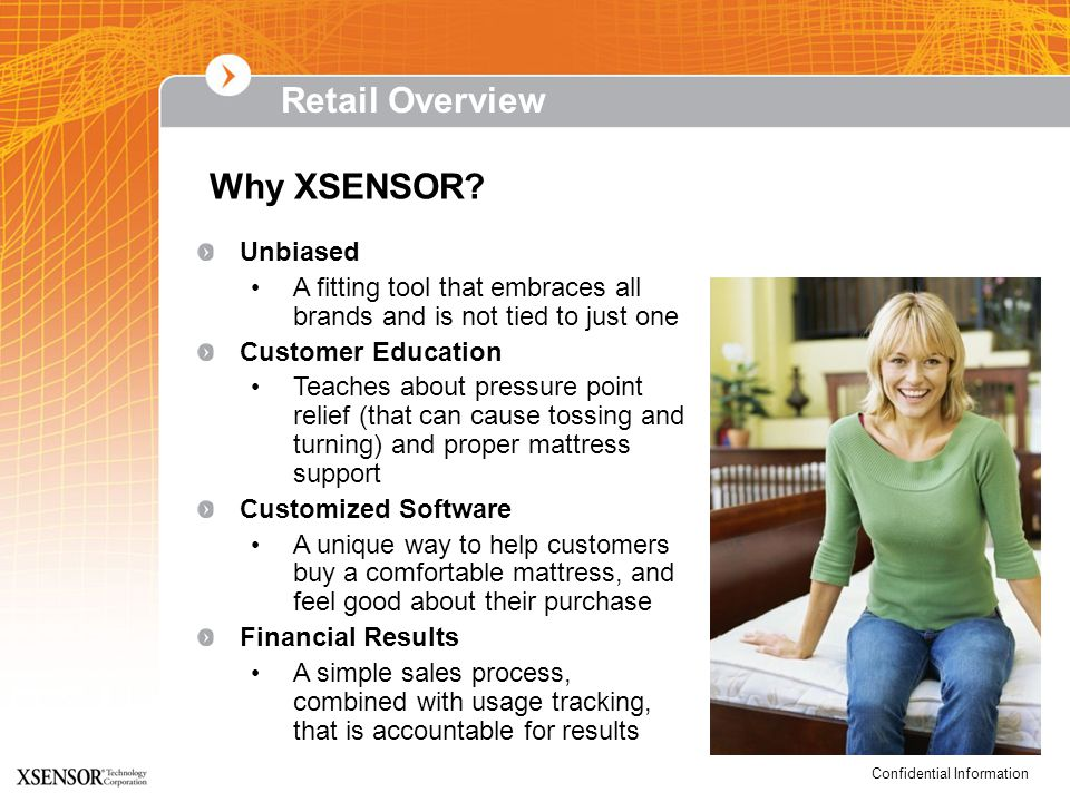 Confidential Information Why XSENSOR.
