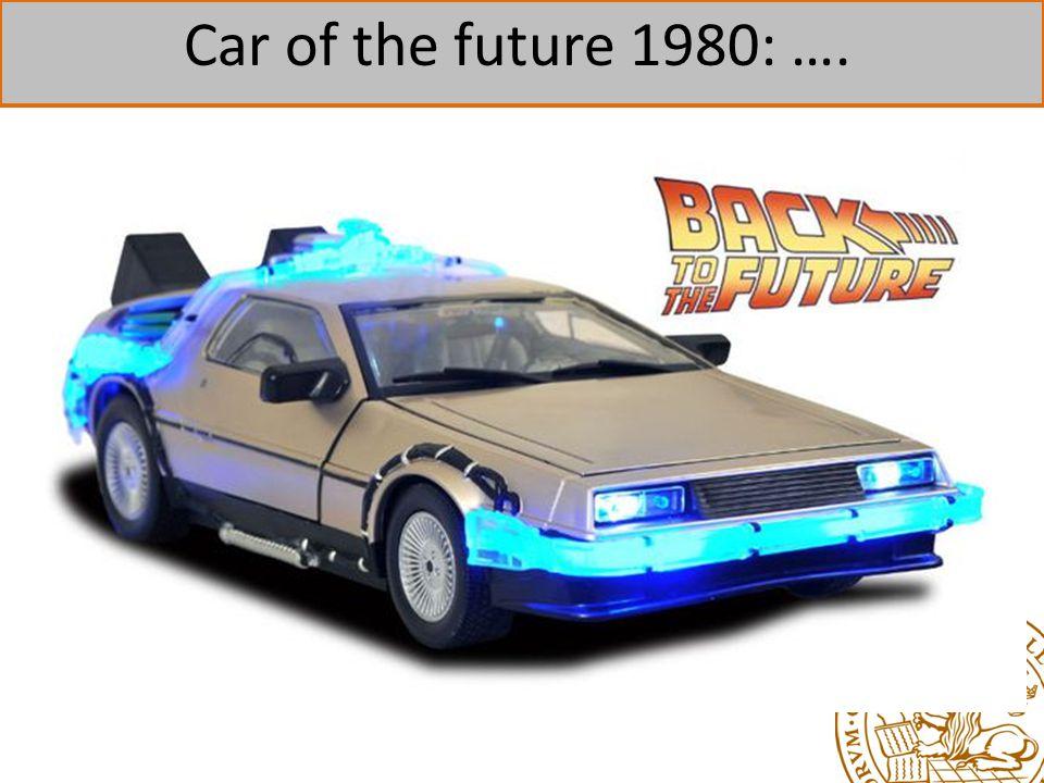 Car of the future 1980: ….