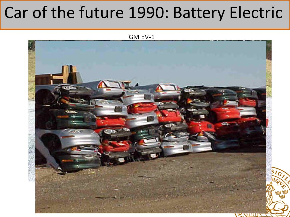 Car of the future 1990: Battery Electric GM EV-1
