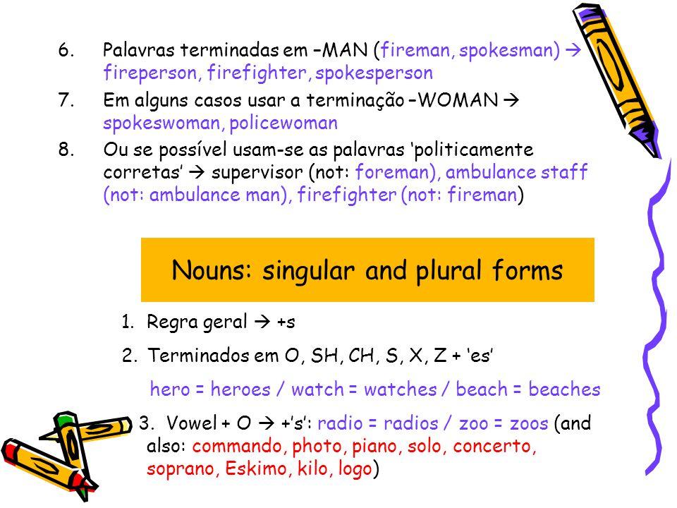 Gender Nouns: singular & plural Nouns: Countable & Uncountable ...