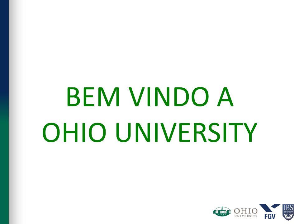 BEM VINDO A OHIO UNIVERSITY