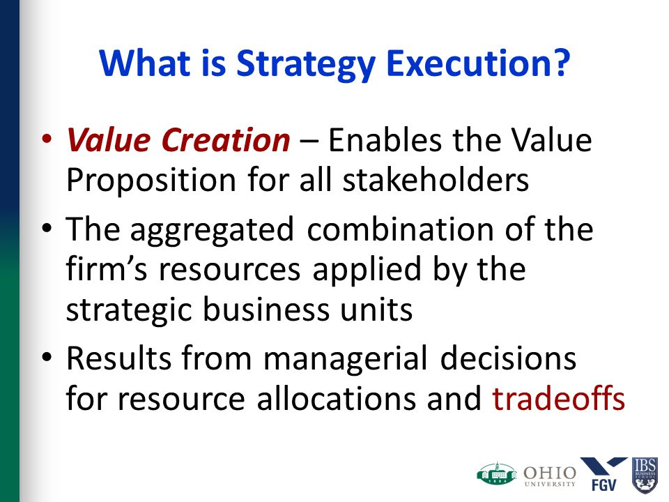 What is Strategy Execution.