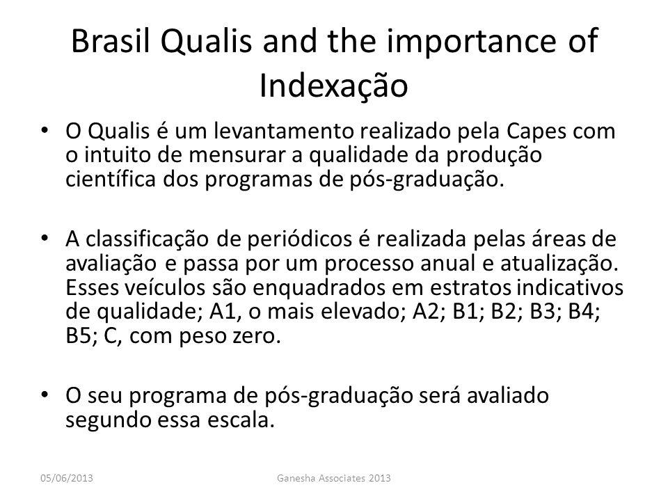 O Qualis é um levantamento realizado pela Capes com o intuito de mensurar a qualidade da produção científica dos programas de pós-graduação. A classif