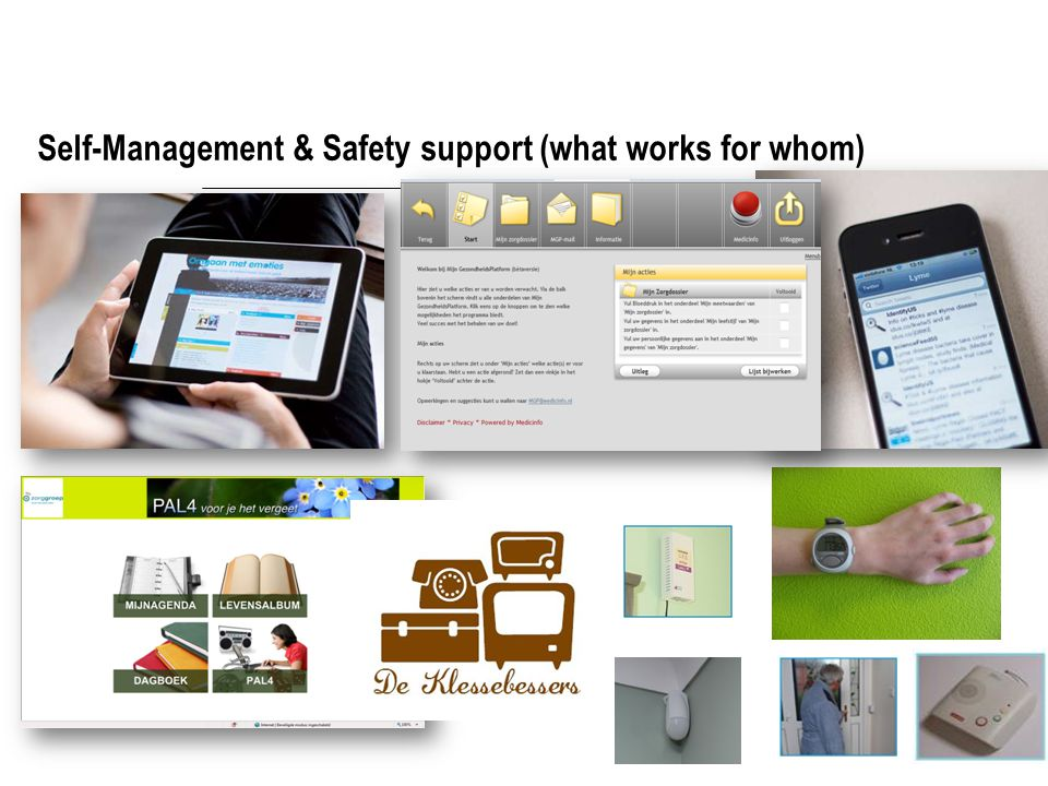 Self-Management & Safety support (what works for whom)