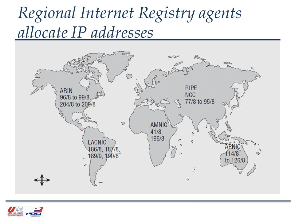 Regional Internet Registry agents allocate IP addresses