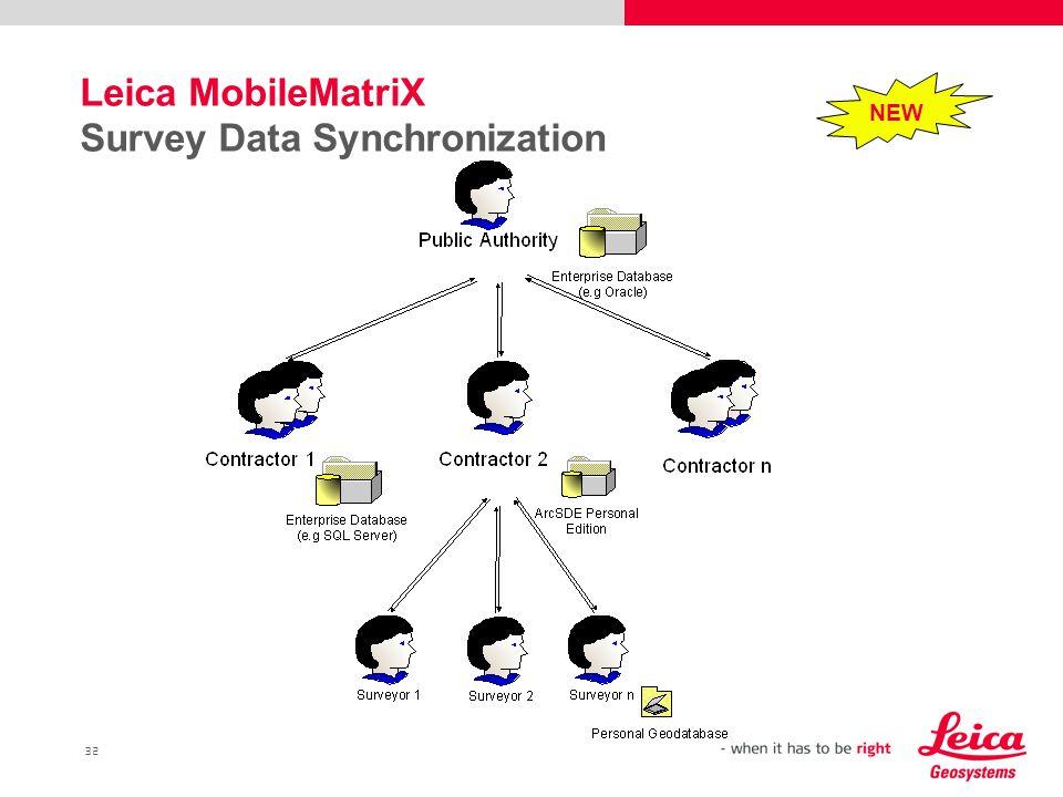 32 Leica MobileMatriX Survey Data Synchronization NEW