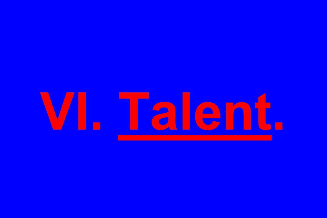 VI. Talent.