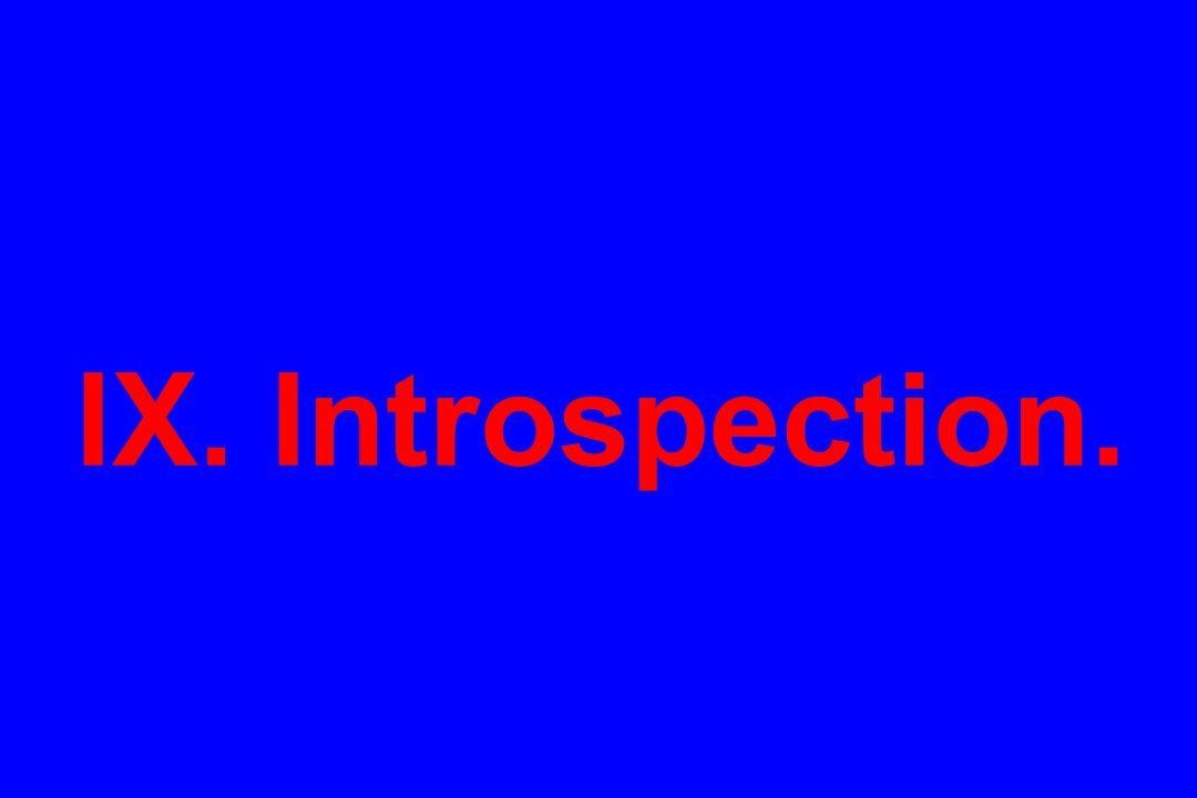 IX. Introspection.