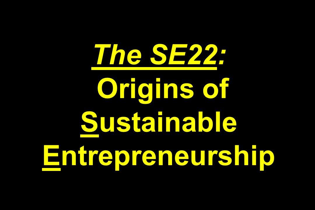 The SE22: Origins of Sustainable Entrepreneurship