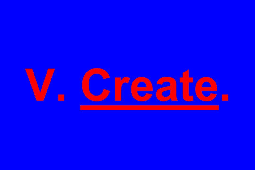 V. Create.